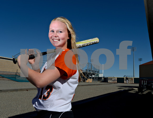 Erie High School senior Claire Nibbe poses for a portrait on Wednesday, Oct. 17, 2012.<br /> (Greg Lindstrom/Times-Call)