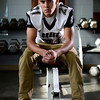 Silver Creek High School's Trey Fleming poses for a portrait inside the weight room, Wednesday, Dec. 19, 2012, at SCHS.<br /> (Matthew Jonas/Times-Call)