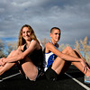 Niwot's Elise Cranny, left, and Lyons' Paul Roberts pose for a portrait at Niwot High School on Monday, Nov. 19, 2012.<br /> (Greg Lindstrom/Times-Call)