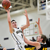 "Frederick's Lucas Adams (3) shoots over Skyline's Zach Anthony (45) during the game at Frederick High School on Friday, Jan. 25, 2013. Skyline beat Frederick 62-51. For more photos visit  <a href=""http://www.BoCoPreps.com"">http://www.BoCoPreps.com</a>.<br /> (Greg Lindstrom/Times-Call)"