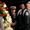 Th Longmont Police Department Color Guard presents at the funeral of retired Longmont firefighter Lynn Huff Friday morning Feb. 15, 2013 at LifeBridge Christian Church. (Lewis Geyer/Times-Call)