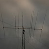 The setting sun catches Sebastian Wessels' HAM radio antenna, Tuesday, Jan. 15, 2013, near his home in Longmont.<br /> (Matthew Jonas/Times-Call)