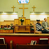 Kendra Balentine and her pastor Corey Seulean are seen during an interview, Friday, Jan.11, 2013, at the Messiahville Baptist Church in Longmont.<br /> (Matthew Jonas/Times-Call)