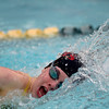 Skyline's Mackenzie Dwyer swims to a first place finish in the 200 yard freestyle during the All City Invitational swim meet at Centennial Pool Saturday, Jan. 19, 2013. (Lewis Geyer/Times-Call)
