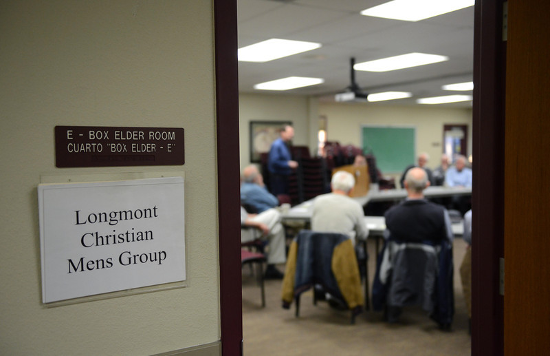 The Longmont Christian Men's Fellowship Wednesday morning Feb. 13, 2013 at the Longmont Senior Center. The group, which started in 1993, celebrated its 1,000th meeting. (Lewis Geyer/Times-Call)