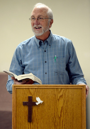 Don Carpenter founded the Longmont Christian Men's Fellowship in 1993.  the Longmont Senior Center. The group, which meets at the Longmont Senior Center, celebrated its 1,000th meeting Wednesday Feb. 13, 2013. (Lewis Geyer/Times-Call)