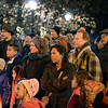 "The crowd watches performers during the ""Hooray, Hooray for the Holidays"" downtown tree lighting ceremony Friday night Nov. 23, 2012 at Sixth Avenue and Main Street. Hundreds were entertained with caroling, an ice-carved sleigh, and a host of holiday characters as the 17-foot tree was lit.(Lewis Geyer/Times-Call)"