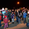 "The crowd during the ""Hooray, Hooray for the Holidays"" downtown tree lighting ceremony Friday night Nov. 23, 2012 at Sixth Avenue and Main Street. Hundreds were entertained with caroling, an ice-carved sleigh, and a host of holiday characters as the 17-foot tree was lit.(Lewis Geyer/Times-Call)"
