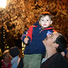 "Isaiah Hall, 3, gets a better view with the help of his father Ryan during the ""Hooray, Hooray for the Holidays"" downtown tree lighting ceremony Friday night Nov. 23, 2012 at Sixth Avenue and Main Street. Hundreds were entertained with caroling, an ice-carved sleigh, and a host of holiday characters as the 17-foot tree was lit.(Lewis Geyer/Times-Call)"
