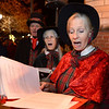 """The Jesters Court Singers, including from left, Bill Campbell, Sally Campbell, and Mary Lou Moore perform during the """"Hooray, Hooray for the Holidays"""" downtown tree lighting ceremony Friday night Nov. 23, 2012 at Sixth Avenue and Main Street. Hundreds were entertained with caroling, an ice-carved sleigh, and a host of holiday characters as the 17-foot tree was lit.(Lewis Geyer/Times-Call)"""