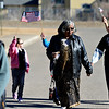 Community members march outside Silver Creek High School during the Dr. Martin Luther King Marade (March/Parade) and Celebration Program on Monday, Jan. 21, 2013.<br /> (Greg Lindstrom/Times-Call)
