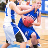 Broomfield's #4, Calie Kaiser, drives to the hoop as Longmont's #34, Dailyn Johnson, defends during their game at Longmont High School on Tuesday evening, January 15th, 2013.<br /> <br /> <br /> Photo by: Jonathan Castner/For the Times-Call