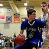 "Longmont's Justinian Jessup (10) is pressured by D'Evelyn's Connor Skelton (3) during the game at D'Evelyn High School on Saturday, March 2, 2013. Longmont lost to D'Evelyn 72-58. For more photos visit  <a href=""http://www.BoCoPreps.com"">http://www.BoCoPreps.com</a>.<br /> (Greg Lindstrom/Times-Call)"