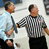 "Longmont head coach Jeff Kloster is held back by a referee during the game at Longmont High School on Tuesday, Dec. 4, 2012. Longmont beat Fort Lupton 47-34. For more photos visit  <a href=""http://www.BoCoPreps.com"">http://www.BoCoPreps.com</a>.<br /> (Greg Lindstrom/Times-Call)"