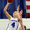 """Longmont's Sydney Wetterstrom (4) shoots over Frederick's Sammie Haas during the game at Longmont High School on Monday, Dec. 10, 2012. Longmont beat Frederick 65-43. For more photos visit  <a href=""""http://www.BoCoPreps.com"""">http://www.BoCoPreps.com</a>.<br /> (Greg Lindstrom/Times-Call)"""