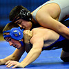 """Longmont's Connor Stengel and Greeley Central's Paul Robeson compete during the wrestling meet at Longmont High School on Thursday, Dec. 6, 2012. For more photos visit  <a href=""""http://www.BoCoPreps.com"""">http://www.BoCoPreps.com</a>.<br /> (Greg Lindstrom/Times-Call)"""