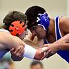 "Longmont's Manuel Sanchez competes against Greeley Central's Donovan Alirez during the wrestling meet at Longmont High School on Thursday, Dec. 6, 2012. For more photos visit  <a href=""http://www.BoCoPreps.com"">http://www.BoCoPreps.com</a>.<br /> (Greg Lindstrom/Times-Call)"