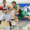 "Niwot's Jordan Keeler, right, tries to steal the ball from Longmont's Felipe Alaniz during the game at Longmont High School on Friday, Jan. 11, 2013. Longmont beat Niwot 50-46. For more photos visit  <a href=""http://www.BoCoPreps.com"">http://www.BoCoPreps.com</a>.<br /> (Greg Lindstrom/Times-Call)"