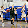 "Niwot's Callie Hensen (2) brings the ball up the floor against Longmont defenders during the game at Longmont High School on Tuesday, Feb. 5, 2013. Longmont beat Niwot 71-27. For more photos visit  <a href=""http://www.BoCoPreps.com"">http://www.BoCoPreps.com</a>.<br /> (Greg Lindstrom/Times-Call)"