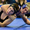 """Longmont's Forrest Wetterstrom competes against Silver Creek's Sam Oliver during the wrestling meet at Longmont High School on Thursday, Dec. 13, 2012. For a more photos visit  <a href=""""http://www.BoCoPreps.com"""">http://www.BoCoPreps.com</a>.<br /> (Greg Lindstrom/Times-Call)"""