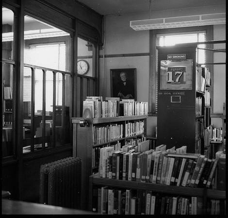 The interior of the Carnegie Library is seen in the late 1960s. Photo taken by Longmont photographer Robert Adams, during the campaign to replace it with a new building in the late 1960s.<br /> (Photo by Robert Adams/Courtesy Longmont Museum)