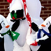 Snow on holiday decorations in Longmont on Tuesday, Dec. 25, 2012. <br /> (Greg Lindstrom/Times-Call)