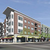 Roosevelt Park Apartments, at Main Street and Longs Peak Avenue, is scheduled to open in late 2013.<br /> Rendering Courtesy of Shears Adkins Rockmore Architects