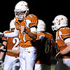 "Mead quarterback Griffin Nelson (17) celebrates after throwing a touchdown pass to Alex Mead late in the fourth quarter.  Mead lost to St. Mary's 21-20 during the varsity football game at Mead High School on Friday, Sept. 7, 2012.  For more photos visit  <a href=""http://www.TimesCall.com"">http://www.TimesCall.com</a>.<br /> (Greg Lindstrom/Times-Call)"