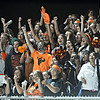 "The Mead student section cheers in the second half.  Mead lost to St. Mary's 21-20 during the varsity football game at Mead High School on Friday, Sept. 7, 2012.  For more photos visit  <a href=""http://www.TimesCall.com"">http://www.TimesCall.com</a>.<br /> (Greg Lindstrom/Times-Call)"
