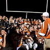 "Mead head coach Jason Klatt speaks to his team and Mead students on the field after the game.  Mead lost to St. Mary's 21-20 during the varsity football game at Mead High School on Friday, Sept. 7, 2012.  For more photos visit  <a href=""http://www.TimesCall.com"">http://www.TimesCall.com</a>.<br /> (Greg Lindstrom/Times-Call)"