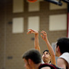 """Mead's John Brady watches the ball as he shoots a free throw during the game at Mead High School on Wednesday, Feb. 27, 2013. Mead beat Fort Morgan 57-43 for its first-ever playoff victory. For more photos visit  <a href=""""http://www.BoCoPreps.com"""">http://www.BoCoPreps.com</a>.<br /> (Greg Lindstrom/Times-Call)"""