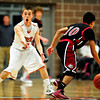 "Mead's Taylor Desch (3) reacts after a no-call by officials as Fort Morgan's Leo Lopez brings the ball up the floor during the game at Mead High School on Wednesday, Feb. 27, 2013. Mead beat Fort Morgan 57-43 for its first-ever playoff victory. For more photos visit  <a href=""http://www.BoCoPreps.com"">http://www.BoCoPreps.com</a>.<br /> (Greg Lindstrom/Times-Call)"