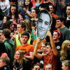 """Mead fans celebrate during the game at Mead High School on Wednesday, Feb. 27, 2013. Mead beat Fort Morgan 57-43 for its first-ever playoff victory. For more photos visit  <a href=""""http://www.BoCoPreps.com"""">http://www.BoCoPreps.com</a>.<br /> (Greg Lindstrom/Times-Call)"""