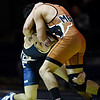 """Frederick's Dylan Shoop competes against Mead's Justice Lovato during the match at Frederick High School on Thursday, Jan. 10, 2013. For more photos visit  <a href=""""http://www.BoCoPreps.com"""">http://www.BoCoPreps.com</a>.<br /> (Greg Lindstrom/Times-Call)"""