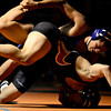 """Longmont's Fernando Ramos-Vega, top, and Mead's Gabe Alvarado compete during the dual meet at Mead High School on Wednesday, Feb. 6, 2013. For more photos visit  <a href=""""http://www.BoCoPreps.com"""">http://www.BoCoPreps.com</a>.<br /> (Greg Lindstrom/Times-Call)"""