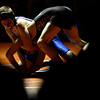"""Longmont's Jared Wells and Mead's Dyllan Burch compete during the dual meet at Mead High School on Wednesday, Feb. 6, 2013. For more photos visit  <a href=""""http://www.BoCoPreps.com"""">http://www.BoCoPreps.com</a>.<br /> (Greg Lindstrom/Times-Call)"""