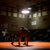 """Mead's Jack Gallegos, left, competes against Roosevelt's Tyler Hayden during the wrestling meet at Mead High School on Wednesday, Jan. 16, 2013. For more photos visit  <a href=""""http://www.BoCoPreps.com"""">http://www.BoCoPreps.com</a>.<br /> (Greg Lindstrom/Times-Call)"""