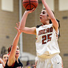 """Mead's Kasey McKrola looks for a shot during the game at Mead High School on Friday, Jan. 4, 2013. Mead beat Skyline 52-40. For more photos visit  <a href=""""http://www.BoCoPreps.com"""">http://www.BoCoPreps.com</a>. <br /> (Greg Lindstrom/Times-Call)"""