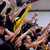"Monarch students cheer during the game at Fairview High School on Thursday, Feb. 21, 2013. Fairview beat Monarch 60-51 to clinch the Front Range League title. For more photos visit  <a href=""http://www.BoCoPreps.com"">http://www.BoCoPreps.com</a>.<br /> (Greg Lindstrom/Times-Call)"