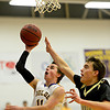 "Boulder's Joe Szarmach (11) shoots over Monarch's Drew Weaver (14) during the game at Boulder High School on Tuesday, Jan. 8, 2013. Monarch beat Boulder 51-49. For more photos visit  <a href=""http://www.BoCoPreps.com"">http://www.BoCoPreps.com</a>.<br /> (Greg Lindstrom/Times-Call)"
