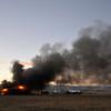 20130118_NIWOT_FIRE_6623.jpg Firefighters work to contain a fire in a barn, Friday, Jan. 18, 2013, in Niwot.<br /> (Matthew Jonas/Times-Call)