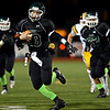 "Niwot's Nathan Merriman runs the ball during the game at Everly-Montgomery Field on Thursday, Oct. 25, 2012.   Windsor beat Niwot 42-18.  For more photos visit  <a href=""http://www.BoCoPreps.com"">http://www.BoCoPreps.com</a>.<br /> (Greg Lindstrom/Times-Call)"