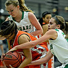 "Players compete for a loose ball during the game at Niwot High School on Friday, Dec. 7, 2012. Niwot won 44-33. For more photos visit  <a href=""http://www.BoCoPreps.com"">http://www.BoCoPreps.com</a>.<br /> (Greg Lindstrom/Times-Call)"