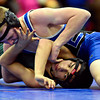 "Longmont's Jared Wells, top, competes against Niwot's Fernando Velasco-Ramirez during the dual meet at Longmont High School on Thursday, Jan. 31, 2013. For more photos visit  <a href=""http://www.BoCoPreps.com"">http://www.BoCoPreps.com</a>.<br /> (Greg Lindstrom/Times-Call)"