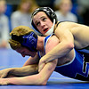 """Niwot's Joey Lambert, right, holds Longmont's Colten Montgomery during the dual meet at Longmont High School on Thursday, Jan. 31, 2013. For more photos visit  <a href=""""http://www.BoCoPreps.com"""">http://www.BoCoPreps.com</a>.<br /> (Greg Lindstrom/Times-Call)"""