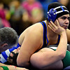 """Longmont's Chris Palacios, top, works to pin Niwot's Mitchell Allen during the dual meet at Longmont High School on Thursday, Jan. 31, 2013. For more photos visit  <a href=""""http://www.BoCoPreps.com"""">http://www.BoCoPreps.com</a>.<br /> (Greg Lindstrom/Times-Call)"""
