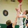 """Niwot's Madison Bounds shoots over Silver Creek defenders during the game at Niwot High School on Tuesday, Jan. 15, 2013. Silver Creek beat Niwot 68-55. For more photos from the game visit  <a href=""""http://www.BoCoPreps.com"""">http://www.BoCoPreps.com</a>.<br /> (Greg Lindstrom/Times-Call)"""