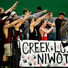 "Silver Creek students cheer during the game at Niwot High School on Tuesday, Jan. 15, 2013. Silver Creek beat Niwot 68-55. For more photos from the game visit  <a href=""http://www.BoCoPreps.com"">http://www.BoCoPreps.com</a>.<br /> (Greg Lindstrom/Times-Call)"