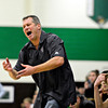 "Silver Creek head coach Bob Banning reacts after a call during the game at Niwot High School on Tuesday, Jan. 15, 2013. Silver Creek beat Niwot 68-55. For more photos from the game visit  <a href=""http://www.BoCoPreps.com"">http://www.BoCoPreps.com</a>.<br /> (Greg Lindstrom/Times-Call)"
