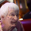 Thelma Horton, 99, of Longmont, shares a laugh during the OUR Center's annual Thanksgiving Day dinner, Thursday, Nov. 22, 2012, at Old Chicago in Longmont.<br /> (Matthew Jonas/Times-Call)